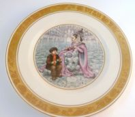 Vintage Royal Copenhagen Hans Christian Andersen The Snow Queen Fairy Tale Plate.